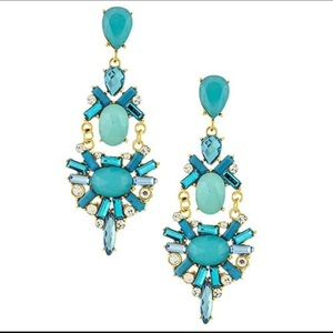 Turquoise Statement Earrings, NWT